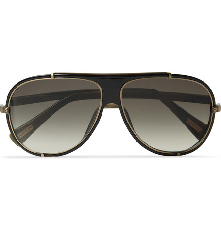 Lanvin Acetate and Metal Aviator Sunglasses