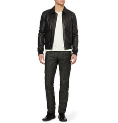 Burberry Brit Slim-Fit Leather Bomber Jacket