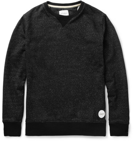 Saturdays Surf NYC Bowery Flecked Loopback Cotton-Blend Jersey Sweatshirt