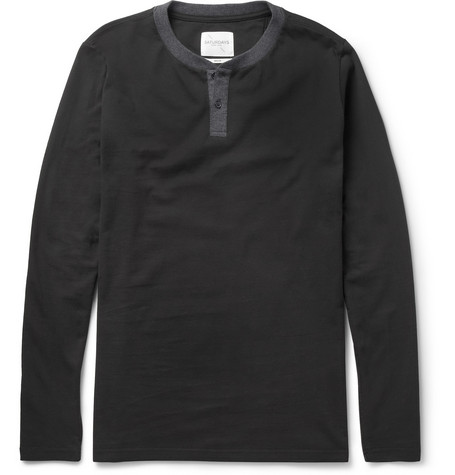 Saturdays Surf NYC Nolan Cotton-Jersey Henley T-Shirt