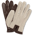 Dents - Leather and Cotton Driving Gloves