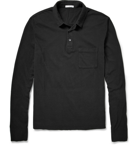 James Perse Long-Sleeved Cotton Polo Shirt