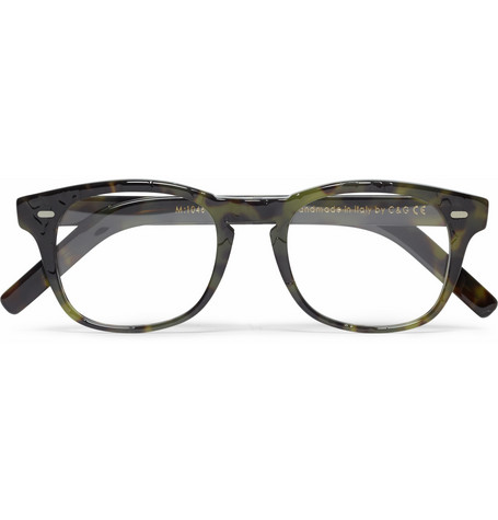Cutler and Gross D-Frame Camouflage Acetate Optical Glasses