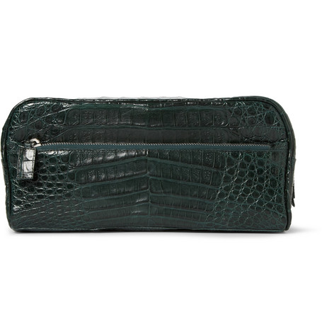 Santiago Gonzalez Crocodile Leather Wash Bag
