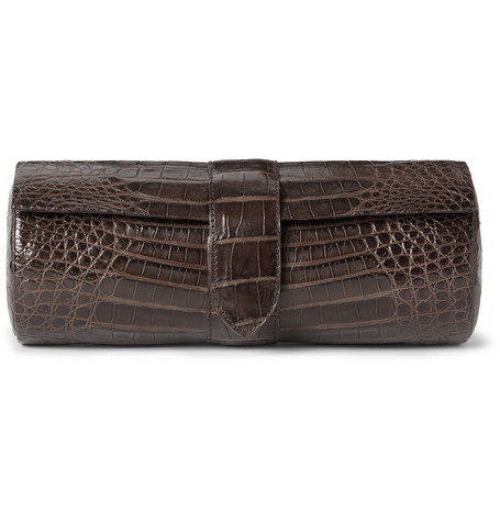 Santiago Gonzalez Crocodile Leather Watch Case