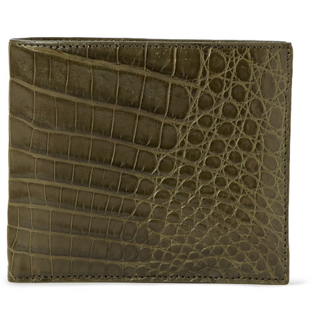 Santiago Gonzalez Crocodile Leather Billfold Wallet