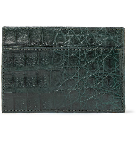 Santiago Gonzalez Crocodile Leather Card Holder