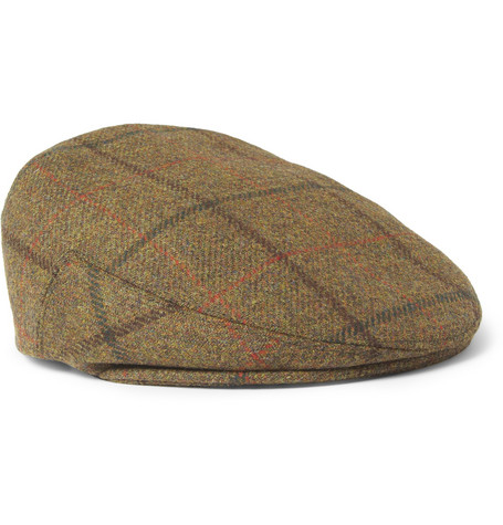 Lock & Co Hatters Glen Check Wool Flat Cap