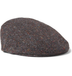 Lock & Co Hatters Glen Donegal Wool Flat Cap