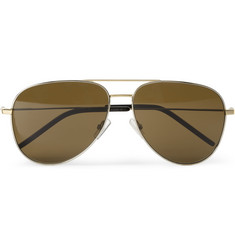 Saint Laurent Classic 11 Metal Aviator Sunglasses