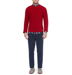 Gant Rugger Triple-Pleated Cotton-Twill Trousers