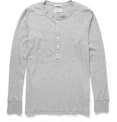 Gant Rugger Long-Sleeved Cotton-Blend Jersey Henley T-Shirt