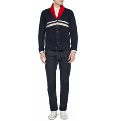 Gant Rugger Striped Wool and Mohair-Blend Cardigan