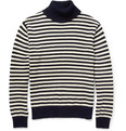 Gant Rugger - Striped Knitted Cotton Rollneck Sweater
