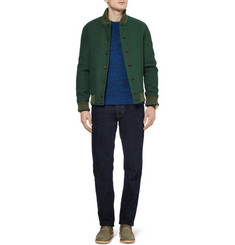 Richard James Quilted Harris Tweed Bomber Jacket