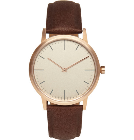 Uniform Wares 152 Series Rose Gold-Plated Steel Wristwatch