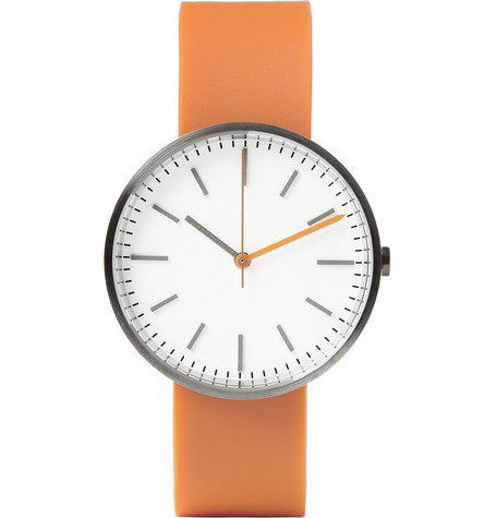 Uniform Wares 104 Series Brushed-Steel Wristwatch
