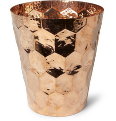 Eclectic by Tom Dixon Hex Hammered-Copper Champagne Bucket