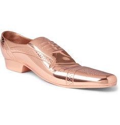 Eclectic by Tom Dixon Cast Copper-Plated Brogue Doorstop