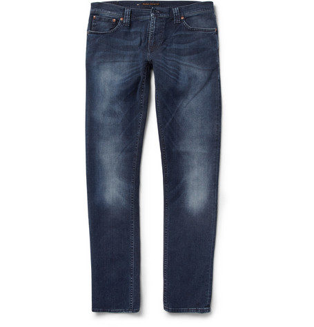 Nudie Jeans Tight Long John Slim-Fit Washed Organic Denim Jeans