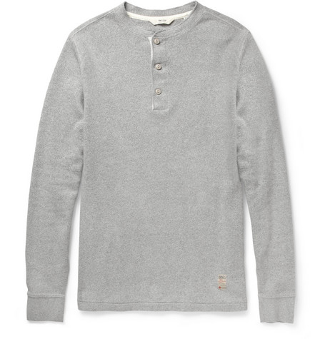 NN.07 Union Long-Sleeved Cotton-Jersey Henley T-Shirt