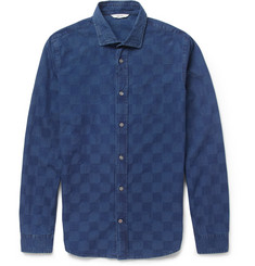 NN.07 Lindh Slim-Fit Woven-Check Chambray Shirt