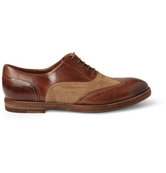 Paul Smith Shoes & Accessories Dennis Burnished-Leather and Canvas Oxford Shoes