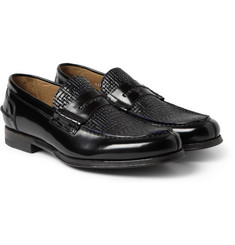 Paul Smith Shoes & Accessories Konrad Embossed-Leather Penny Loafers