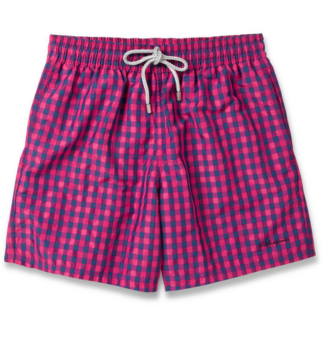 Vilebrequin Moorea Mid-Length Check Swim Shorts