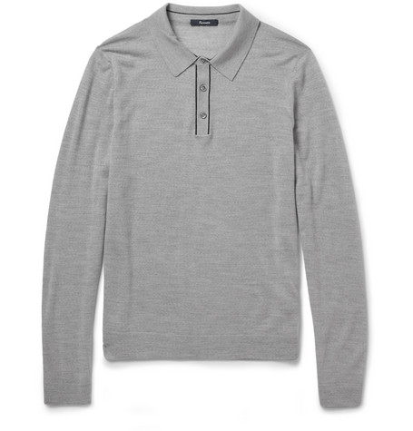 Faconnable Fine-Knit Wool Polo Shirt