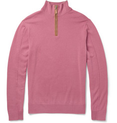 Faconnable Cashmere Zip-Neck Sweater