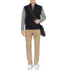 Faconnable Wool and Cotton-Blend Gilet