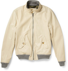 Todd Snyder Leather Bomber Jacket