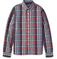 Todd Snyder Plaid Cotton-Poplin Shirt