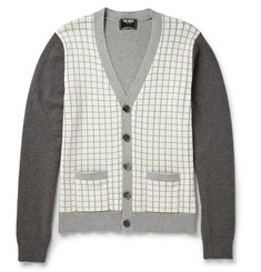 Todd Snyder Windowpane Check Cotton Cardigan