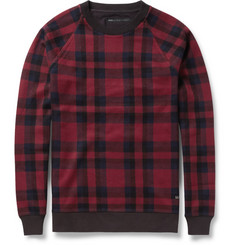 Marc by Marc Jacobs Check Woven-Cotton Sweatshirt