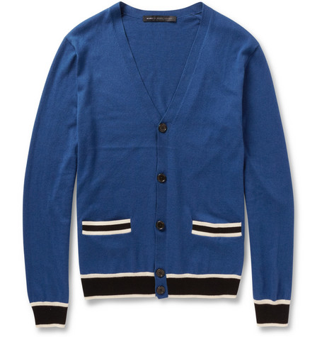 Marc by Marc Jacobs Silk, Cotton and Cashmere-Blend Cardigan