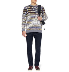 Marc by Marc Jacobs Patterned Merino Wool Crew Neck Sweater