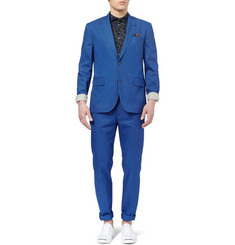 Marc by Marc Jacobs Blue Cotton-Twill Suit Jacket