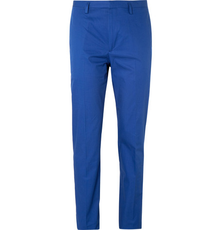 Marc by Marc Jacobs Blue Tapered Cotton-Twill Suit Trousers