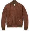 Billy Reid Suede Bomber Jacket