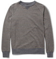 Billy Reid Martin Striped Cotton-Blend Jersey Sweatshirt