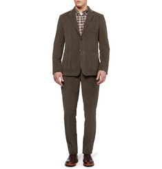 Billy Reid Wesley Slim-Fit Cotton and Cashmere-Blend Corduroy Suit Jacket