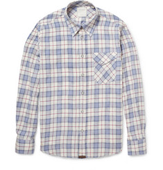 Billy Reid Gilbert Plaid Cotton Shirt