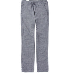 Billy Reid Slim-Fit Cotton-Blend Trousers