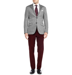 Etro Patterned Cotton-Blend Jersey Blazer