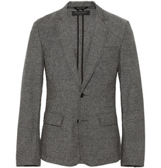Rag & bone Phillips Unstructured Herringbone Cotton-Blend Blazer