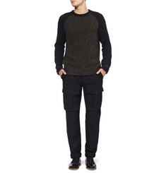 Rag & bone Contrast-Sleeve Wool Sweater