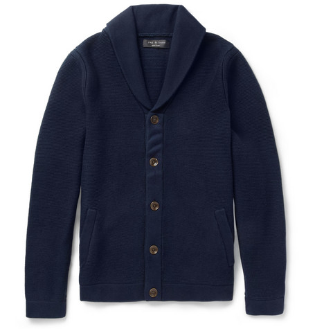 Rag & bone Donaghy Knitted Cotton and Wool-Blend Cardigan