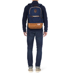 Rag & bone Burnished-Leather and Nylon-Canvas Backpack